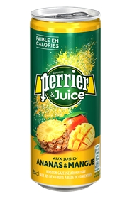 BOITE PERRIER JUICE ANANAS BT25 X24